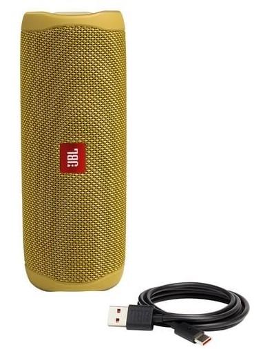 רמקול JBL FLIP 5 צהוב חזק ועוצמתי במיוחד עמיד במים וחיי סוללה ארוכים