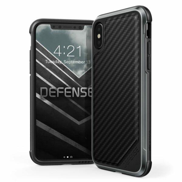 460729 Xdoria Defenselux Iphone8 Black Carbon Fiber 00.jpg