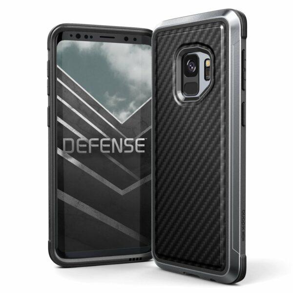 468152 Xdoria Defenselux Galaxys9 Black Carbon Fiber 00.jpg