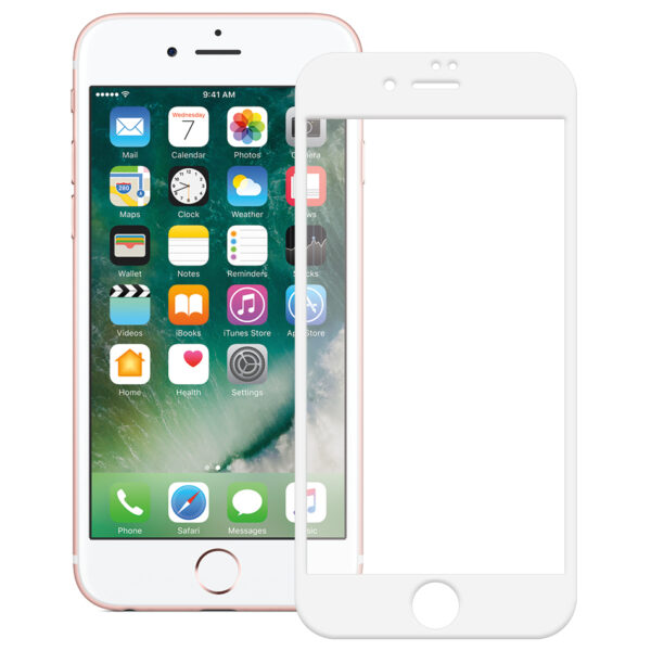 Silk Screen Curved Edge Tempered Glass Screen Protector For Iphone 7 Plus White.jpg