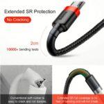 כבל סנכרון וטעינה חזק במיוחד BASEUS למכשירים בעלי חיבור מיקרו USB