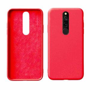 מגן סיליקון אדום לשיאומי רדמי 8 מראה אלגנטי רך ונעים למגע