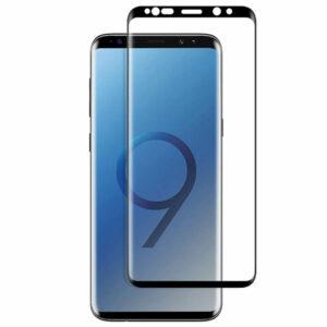 מגן זכוכית Full Cover שחור לגלקסי S9 מכסה את כל המסך