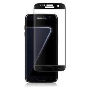 מגן זכוכית Full Cover שחור לגלקסי S7 אדג' מכסה את כל המסך