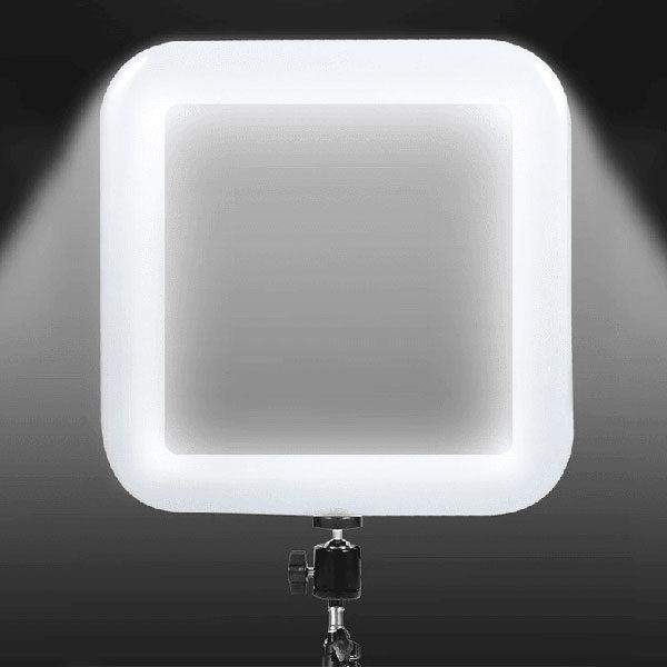 """רינג לייט תאורה עוצמתי מרובע 28 ס""""מ הנפתח עד גובה של 2 מטר"""