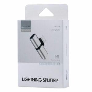 מפצל לאייפון מחיבור Lightning לאוזניות וטעינה במקביל