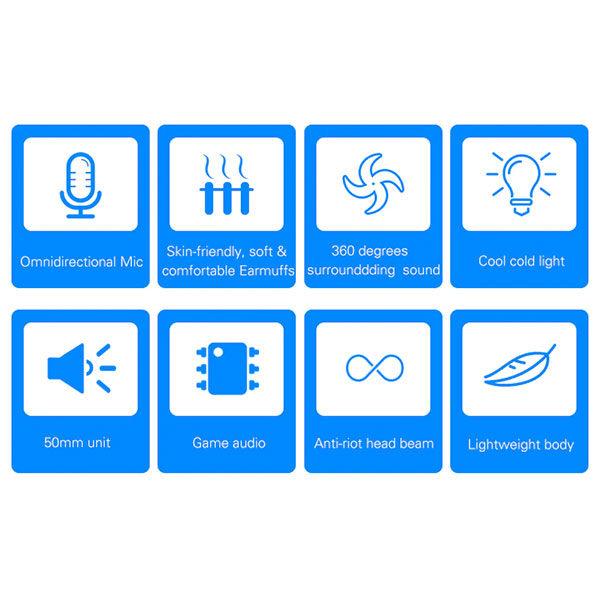 אוזניות גיימינג עם מיקרופון מסנן רעשים ועיצוב ארגונומי מבית Aula