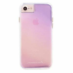 מגן כיסוי לאייפון 6/6S/7/8/SE שקוף צבעוני Case Mate