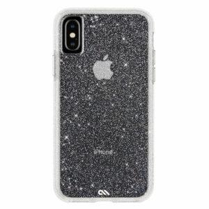מגן כיסוי לאייפון X/XS שקוף נצנצים Case Mate