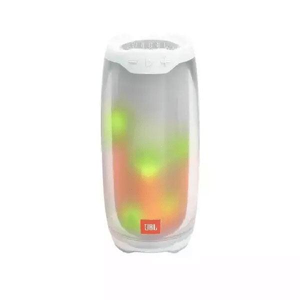 רמקול JBL Pulse 4 לבן בלוטות' עם אורות לד מובנים