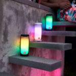 רמקול JBL Pulse 4 שחור בלוטות' עם אורות לד מובנים