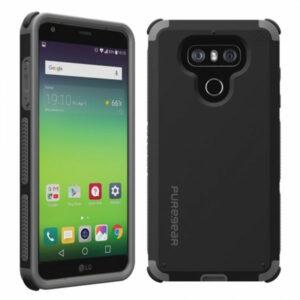 מגן כיסוי קומבו DualTek שחור ל-LG G6 מבית PureGear