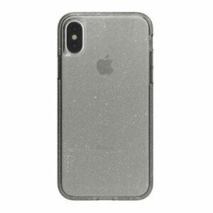 מגן כיסוי לאייפון X/XS שקוף כהה נצנצים Skech Matrix Sparkle