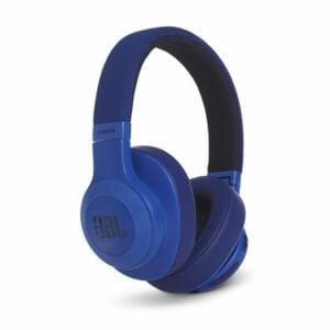 אוזניות JBL E55BT קשת אלחוטיות בעלות צליל מרחבי כחול