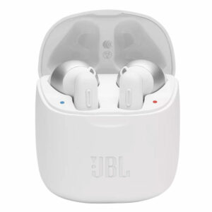 אוזניות JBL Tune T220 TWS אלחוטיות בעלות צליל נקי לבן