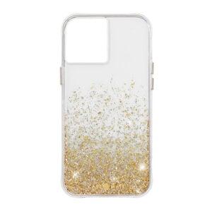 מגן כיסוי לאייפון 12 מיני שקוף נצנצים זהב Case Mate