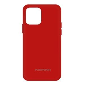 כיסוי מגן סיליקון Softek אדום לאייפון 12 מיני PureGear