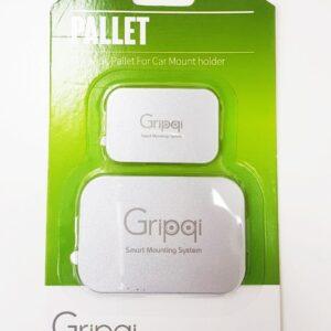זוג מגנטים איכותי לסמארטפון של המותג זרועות לרכב המוביל Gripi כסוף