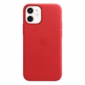 כיסוי עור מקורי לאייפון 12 מיני אדום Product RED תומך MagSafe