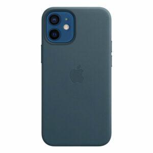כיסוי עור מקורי לאייפון 12 מיני כחול תומך MagSafe