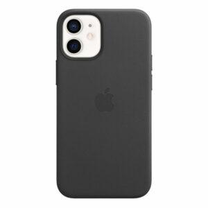כיסוי עור מקורי לאייפון 12 מיני שחור תומך MagSafe