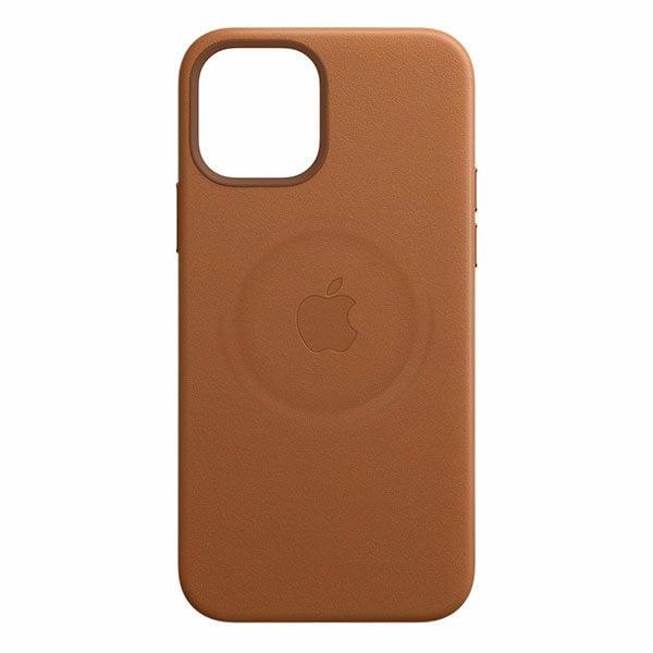 כיסוי עור מקורי לאייפון 12 פרו חום אוכף תומך MagSafe