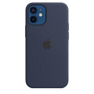כיסוי מקורי לאייפון 12 כחול נייבי תומך MagSafe