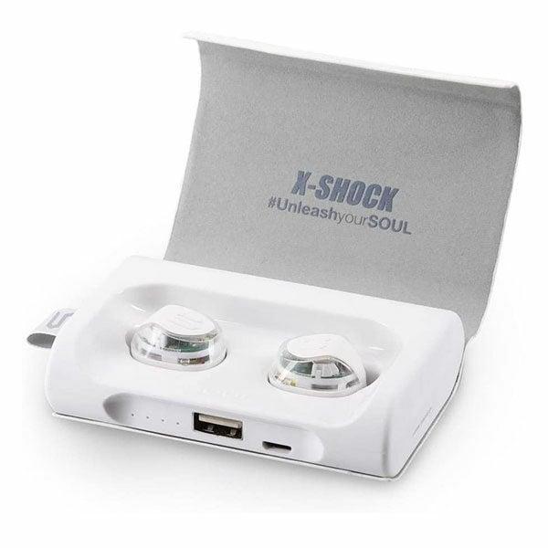 אוזניות Soul X-Shock ספורט אלחוטיות עמידות למים לבן