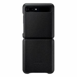 מגן כיסוי עור לגלקסי Z Flip מקורי שחור Samsung Leather Cover
