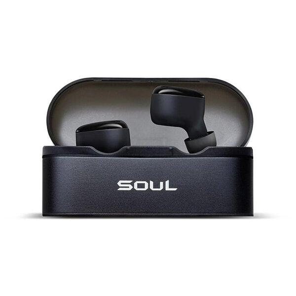 אוזניות Soul ST-XS אלחוטיות עם עיצוב קומפקטי וסאונד צלול שחור