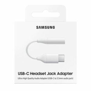 """מתאם אוזניות ומוזיקה מ-USB-C לחיבור 3.5 מ""""מ מקורי סמסונג"""
