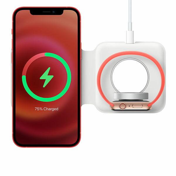 משטח טעינה אלחוטי כפול מגנטי מקורי לאייפון MagSafe Duo Charger