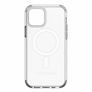 מגן כיסוי שקוף לאייפון 12 מיני תומך MagSafe קשיח PureGear Slim Shell Pro