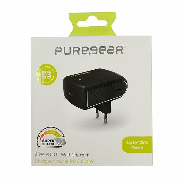 ראש מטען מהיר בהספק 25 וואט מאושר אפל לכל המכשירים PureGear