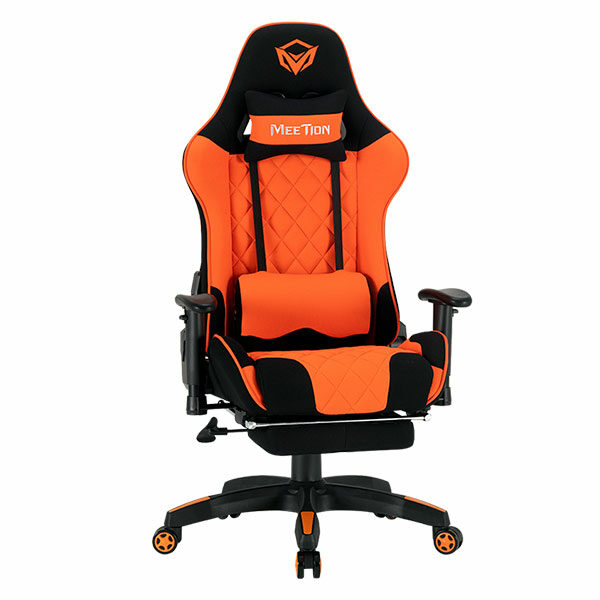 מושב גיימינג שחור כתום מקצועי עם מסאז' MeeTion Gaming Chair CHR25
