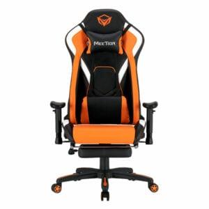 מושב גיימינג שחור כתום מקצועי עם הדום MeeTion Gaming Chair CHR22