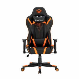 כסא גיימינג שחור כתום מתכוונן MeeTion Gaming Chair CHR15