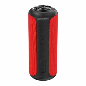 רמקול אלחוטי Tronsmart T6 Plus Upgraded אדום עם סאונד חזק ועוצמתי