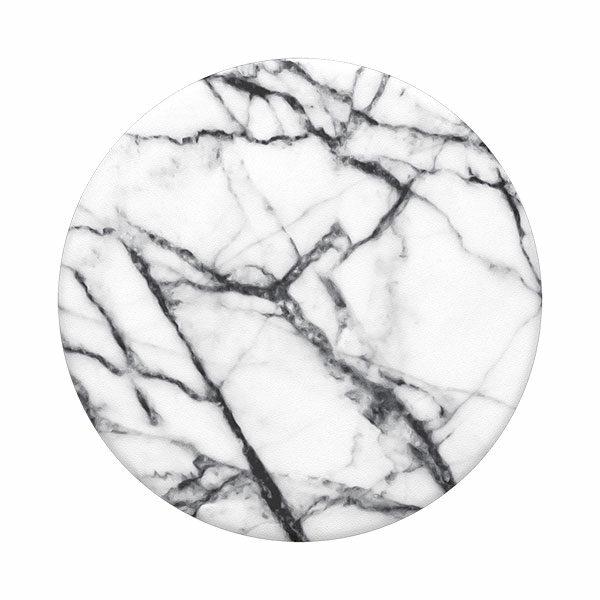 פופסוקט מחזיק לסמארטפון שיש לבן PopSocket Abstract Dove White Marble