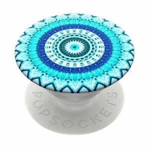 פופסוקט תופסן לסמארטפון מנדלה כחולה PopSocket Blue Floral Mandala