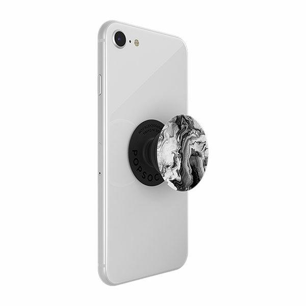 פופסוקט מחזיק לסמארטפון שיש שחור PopSocket Abstract Ghost Marble
