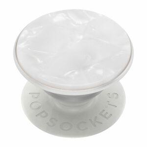 פופסוקט תופסן לסמארטפון לבן פנינה PopSocket Acetate Pearl White