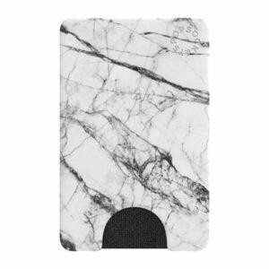 פופסוקט ארנק לסמארטפון שיש עם מקום ל-3 כרטיסים PopSocket PopWallet White Marble