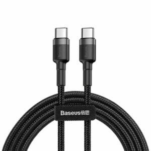 כבל טעינה מחוזק USB Type-C ל-USB Type-C תומך טעינה מהירה Baseus