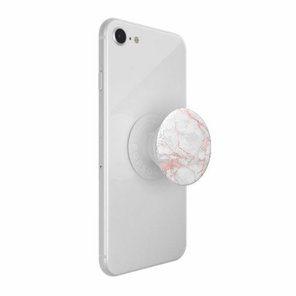פופסוקט מחזיק לסמארטפון שיש ורוד PopSocket Abstract Rose Gold Lutz Marble