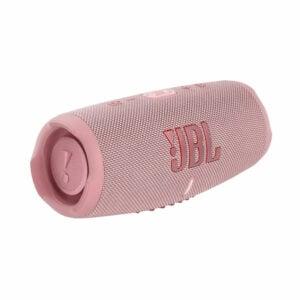 רמקול JBL Charge 5 ורוד עם שמע עוצמתי במיוחד