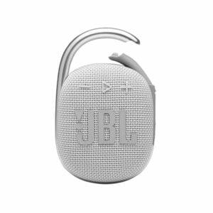 רמקול JBL Clip 4 לבן עם תופסן משודרג וסאונד חזק