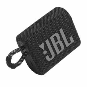 רמקול JBL GO 3 שחור עם מבנה קומפקטי וסאונד עוצמתי יבואן רשמי