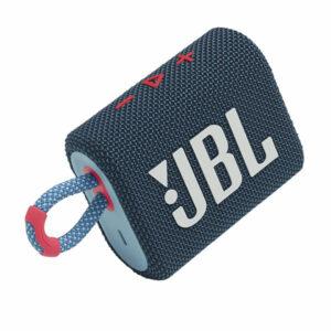 רמקול JBL GO 3 כחול ורוד עם מבנה קומפקטי וסאונד עוצמתי יבואן רשמי