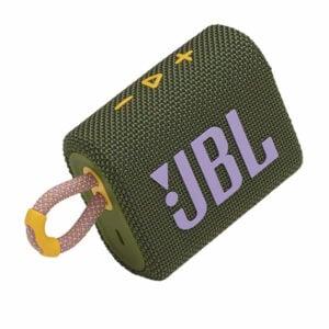 רמקול JBL GO 3 ירוק עם מבנה קומפקטי וסאונד עוצמתי יבואן רשמי